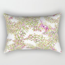 Pink flower wreaths Rectangular Pillow