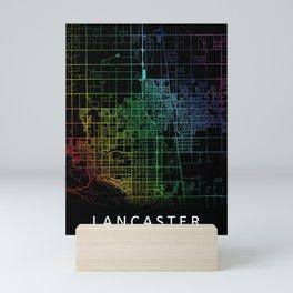 Lancaster CA USA City Map Rainbow City Map Art Print Mini Art Print