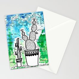 Cactus 80 galactic sky Stationery Cards
