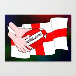 England Rugby Flag Canvas Print