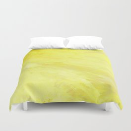 Abstract Yellow Sun by Robert S. Lee Duvet Cover