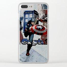Tardis of Iron Captain Clear iPhone Case