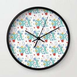 STRUT Type and Pattern Wall Clock