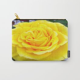 Golden Yellow Rose with Garden Background Carry-All Pouch