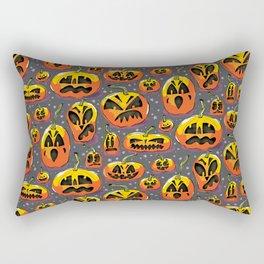 jack o lanterns jackolanterns purple pumpkin halloween creepy spooky holiday theme Rectangular Pillow