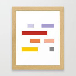 Colored lines #society6 #decor #buyart #artprint Framed Art Print