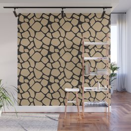 Black and Tan Rock Pattern Wall Mural