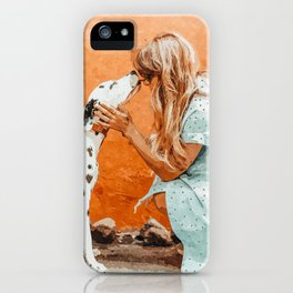 Pet Bound #pets #animals #animalslover #painting iPhone Case