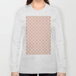 Modern coral white chic quatrefoil pattern Long Sleeve T-shirt