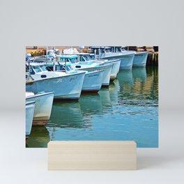 Boats Reflected Mini Art Print