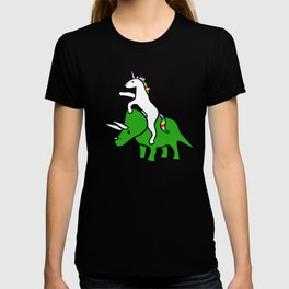 Unicorn Riding Triceratops T-shirt