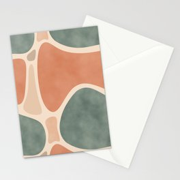 Earth Tones Shapes Stationery Cards