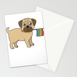 Pug Gifts Gay Pride Flag LGBT Equality Shirt Love Pug TShirt Stationery Cards