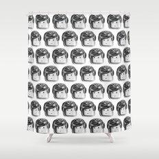 Minifigure Pattern Shower Curtain