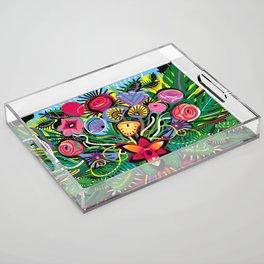 Jungle Foliage Acrylic Tray
