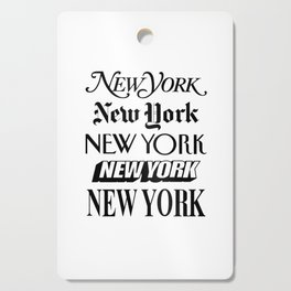 I Heart New York City Black and White New York Poster I Love NYC Design black-white home wall decor Cutting Board