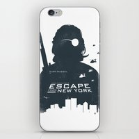 tintin iPhone & iPod Skins featuring John Carpenter's Escape From New York by Alain Bossuyt