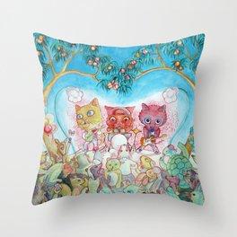 Party Animals Throw Pillow