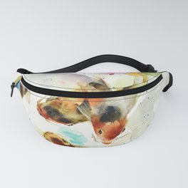 Watercolor Koi Pond Fanny Pack