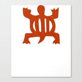 "Denkyem ""Crocodile"" | African Symbol of adaptability in African Orange Canvas Print"