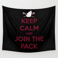 "teen wolf Wall Tapestries featuring Teen Wolf-""Join the Pack"" by radruby"