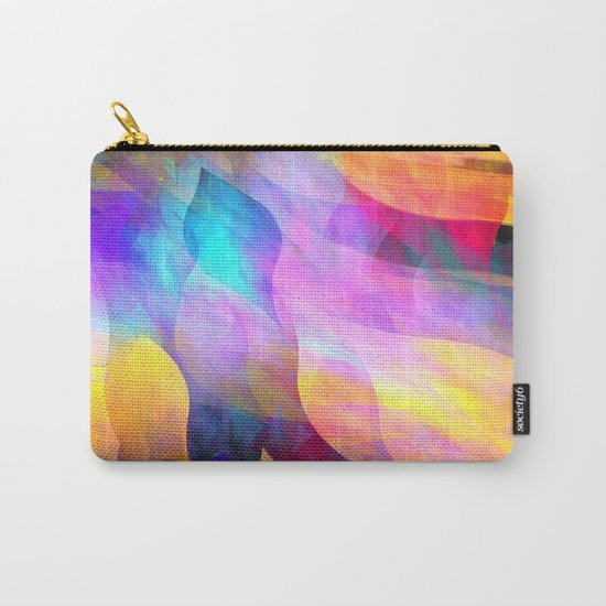 Colourful abstract with leaf shapes Carry-All Pouch