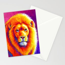Sunset on the Savanna - African Lion Stationery Cards