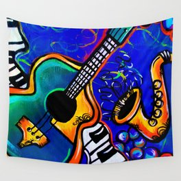 Carnival Jazz Painting Wall Tapestry