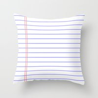 notebook Throw Pillows featuring Notebook by Leah Moloney