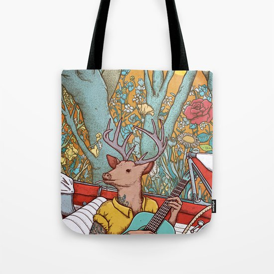 A ride and a song Tote Bag