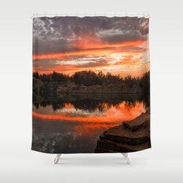 Sunset at Halibut Point Quarry Shower Curtain
