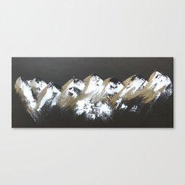 Gold Mountains Canvas Print