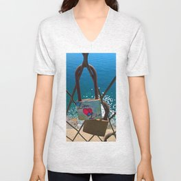 Love Locks Unisex V-Neck