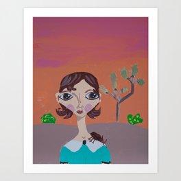 ~ Rhino Beetle ~10 Year Old Amelia's Arizona Critter Girl Art Print