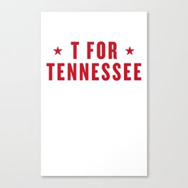 T FOR TENNESSEE Canvas Print