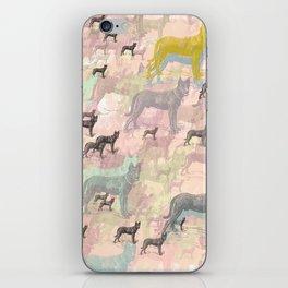 Sky Dogs - Abstract Geometric pink mauve mint grey orange iPhone Skin