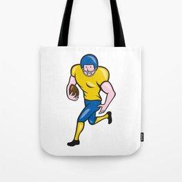 American Football Running Back Cartoon Tote Bag