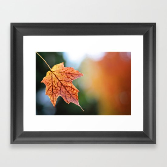 Autumn, the year's last, loveliest smile. Framed Art Print