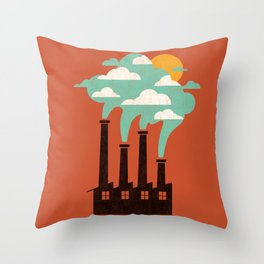 The Cloud Factory Throw Pillow