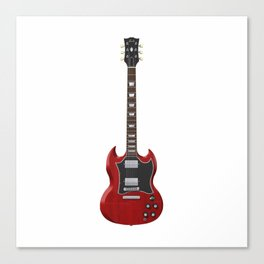 Red Electric Guitar Canvas Print