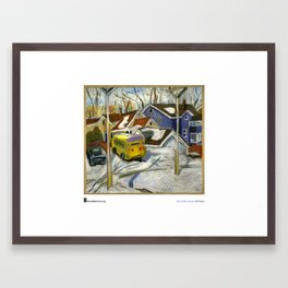 "Marcia Milner-Brage, ""School Bus in Vacant Lot"" Framed Art Print"