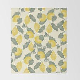 Citrus Pattern Throw Blanket