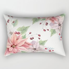Poinsettia 2 Rectangular Pillow