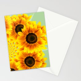 Spinning Sunflowers Stationery Cards