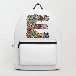 Alphabet E. 26 letters making up from weirdorables doodle characters. What yours? Backpack