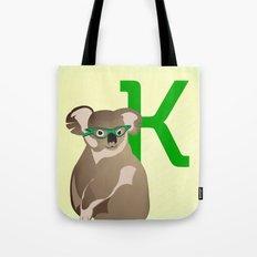 K for Koala Tote Bag