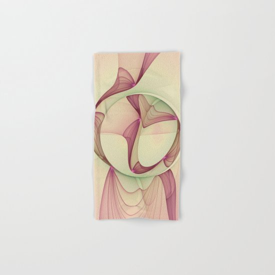The Abstract Elegance, Modern Fractal Art Hand & Bath Towel