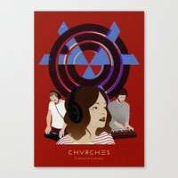 chvrches Canvas Prints featuring CHVRCHES - The Bones Of What You Believe by Andrea Solenghi