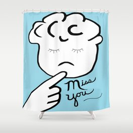 ASL Miss You Shower Curtain