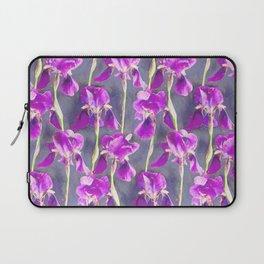 Simple Iris Pattern in Warm Magenta Laptop Sleeve